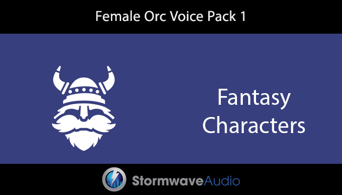 Female Orc Voice Pack 1