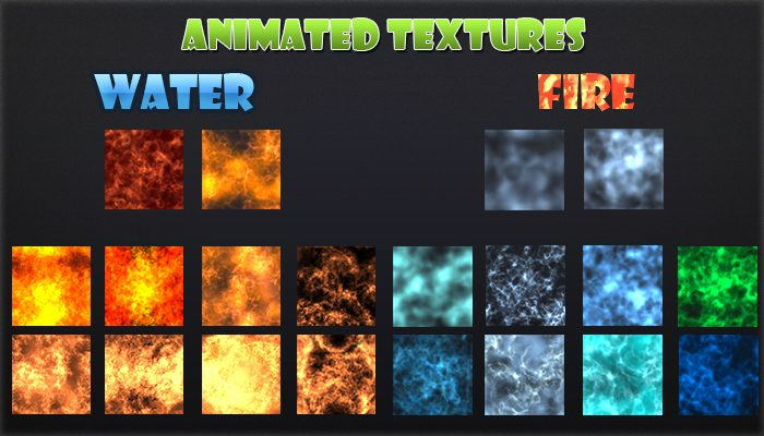 Animated Texture- Fire and Water