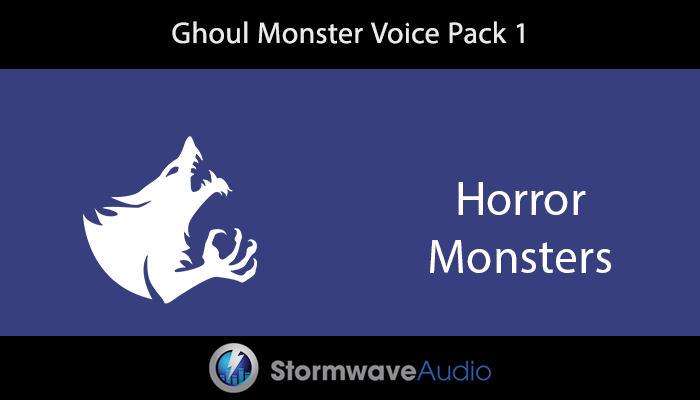 Ghoul Monster Voice Pack 1