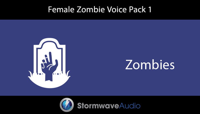 Female Zombie Voice Pack 1