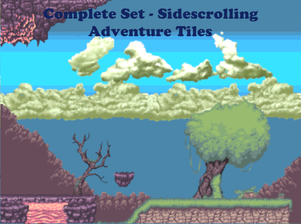 Complete Set – Sidescrolling Adventure Tiles