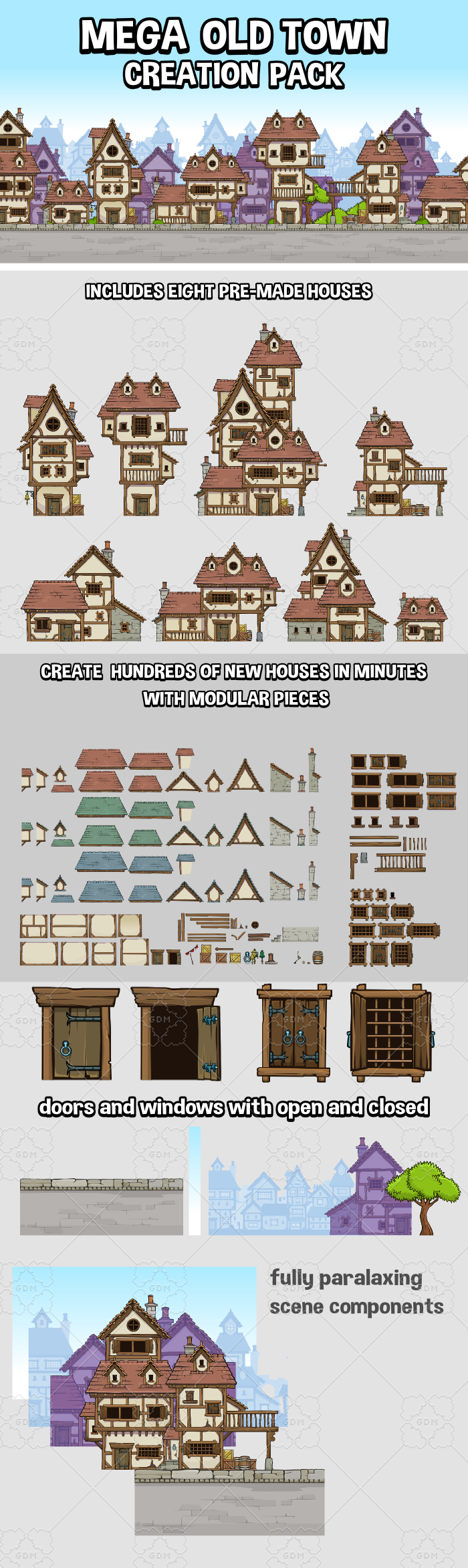 Mega old town creation pack