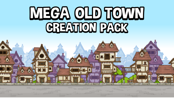 Mega old town creation pack