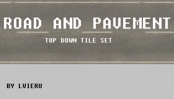 Top down road and pavement tile set