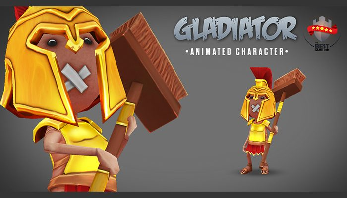 Gladiator animated character