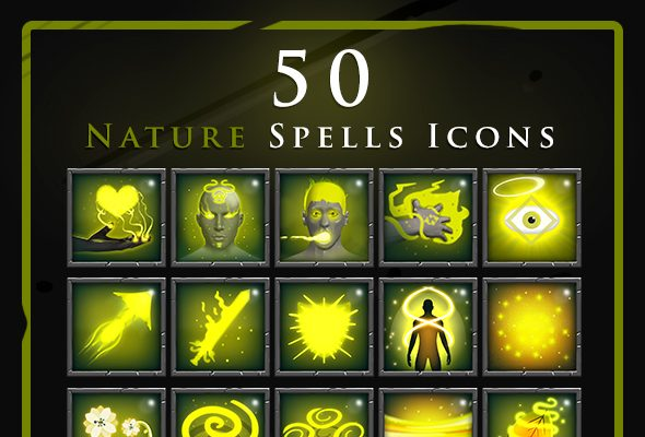 50 RPG Magic Nature Spell Icons