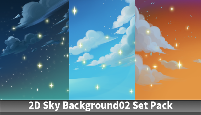 2D Sky Background02 Set Pack