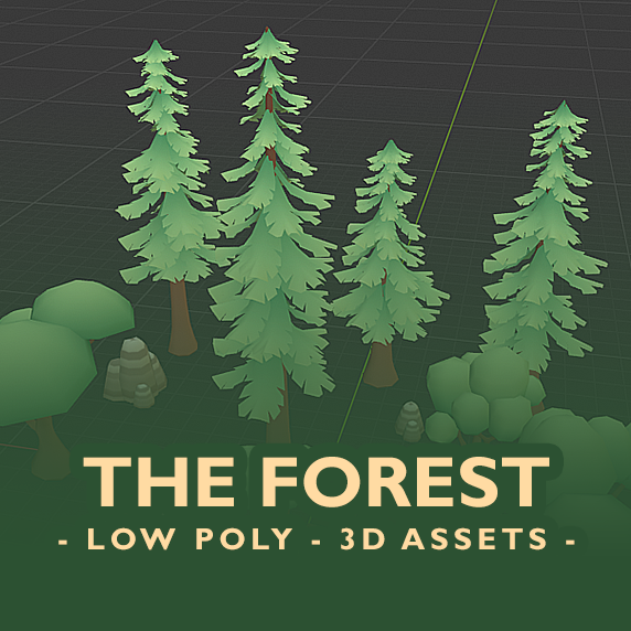 The Forest – low-poly 3D game assets