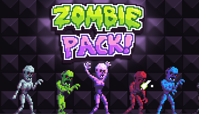 Zombie Pack – Pixel Art Monsters