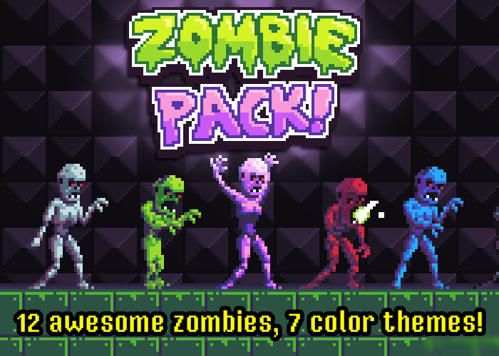 Zombie Pack – Pixel Art Monsters