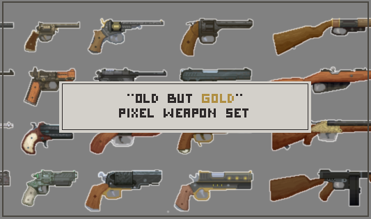 20 pixel weapon sprites