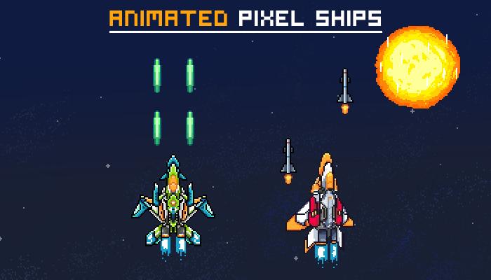 Animated Pixel Ships