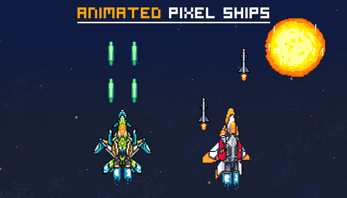 Animated Pixel Ships