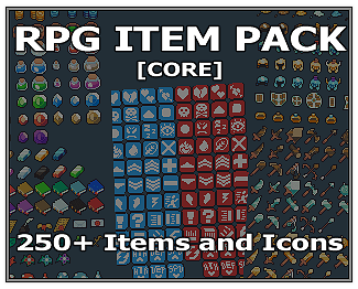 RETRO RPG ITEM PACK 250+ ITEMS AND ICONS 16×16