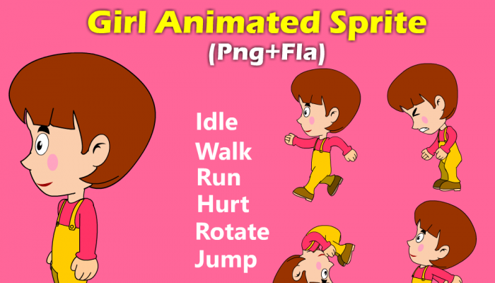 Girl animated sprite