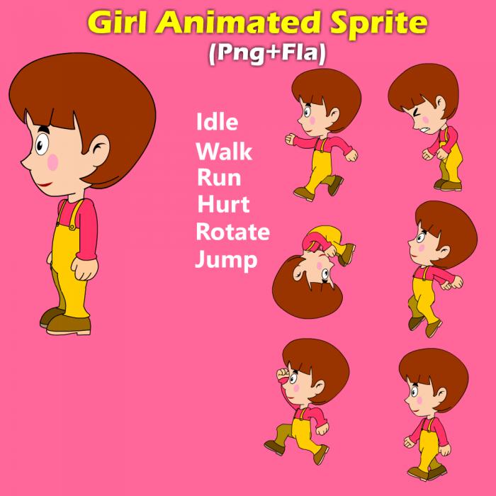 Girl animated sprite