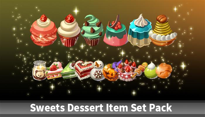 Sweets Dessert Item Set Pack