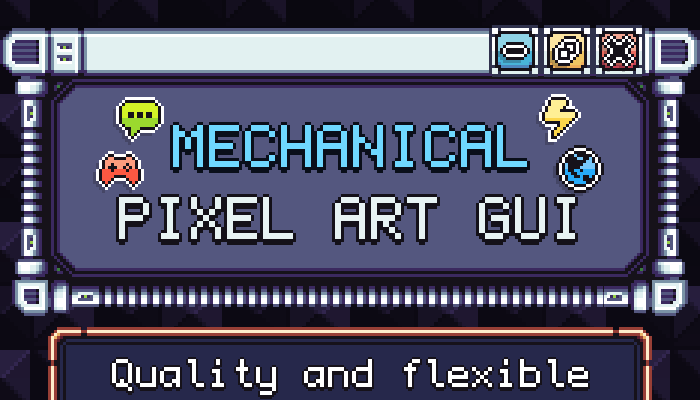 Mechanical Pixel Art GUI