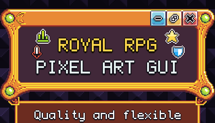 Royal RPG Pixel Art GUI