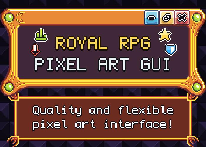 Royal RPG Pixel Art GUI