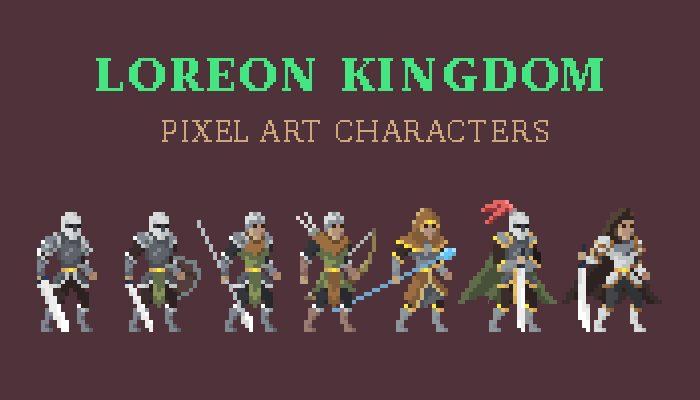 Loreon Kingdom Pixel Art Character Asset