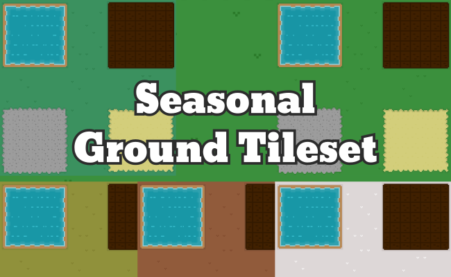 Pixel Art Ground Tileset