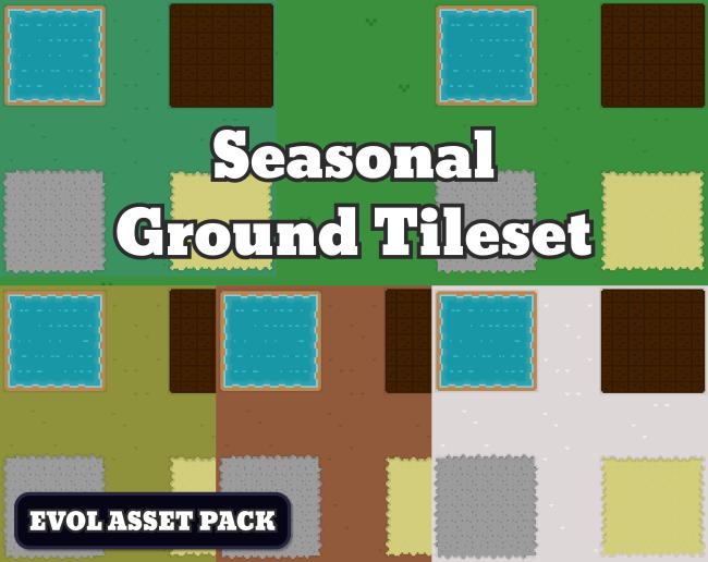 Pixel Art Ground Tileset
