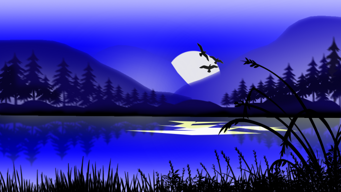 Asthetic night sky