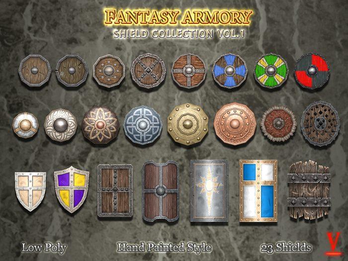 Medieval Fantasy Shield Collection Vol.1