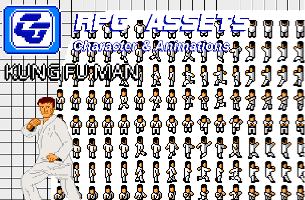 RPG Asset Character 'Kung Fu Man' SMS