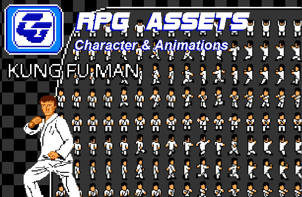 RPG Asset Character 'Kung Fu Man' NES