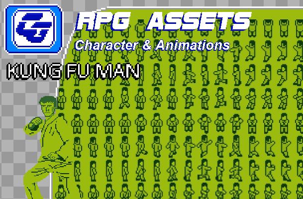 RPG Asset Character 'Kung Fu Man' GB