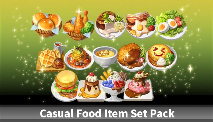 Casual Food Item Set Pack