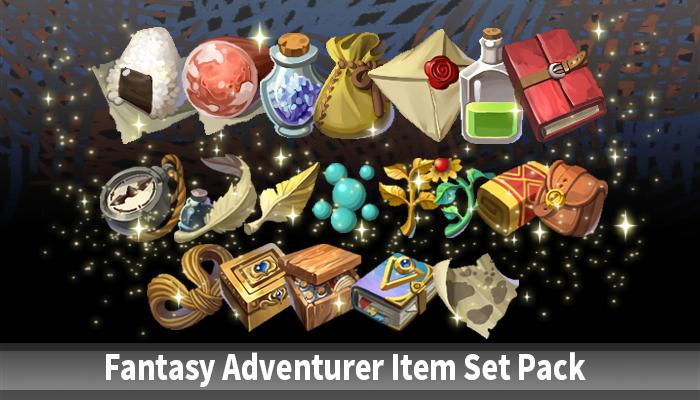 Fantasy Adventurer Item Set Pack