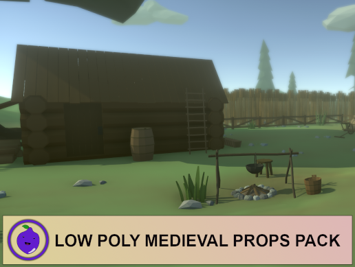 Low Poly Medieval Props Pack