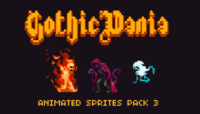 Gothicvania Enemies Pack 3