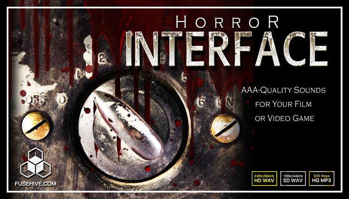 HORROR USER INTERFACE SOUND EFFECTS LIBRARY – Spooky Creepy Evil UI Menu Sounds Game Audio Pack