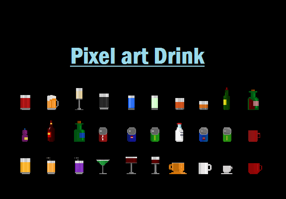 Drink pixel art