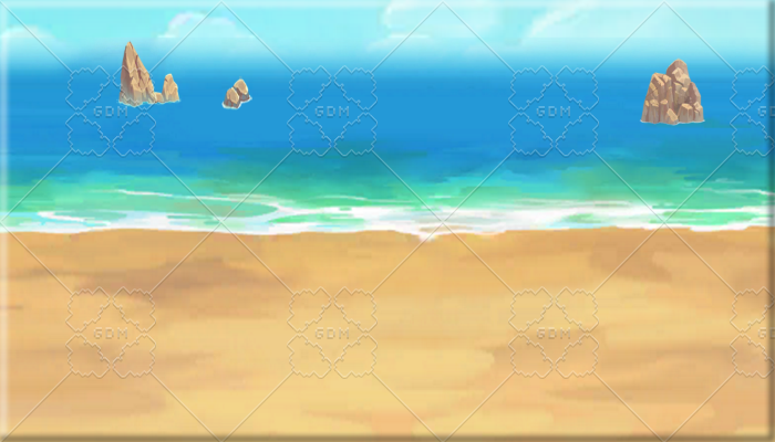 SCROLLING REPEATABLE PARALLAX BACKGROUND – BEACH