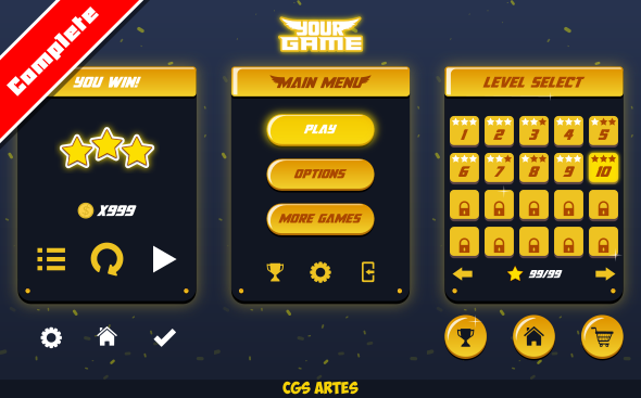 TEMPLATE GAME GUI – DARK LUX