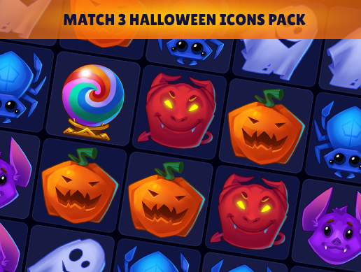 Match 3 Halloween Icon Pack