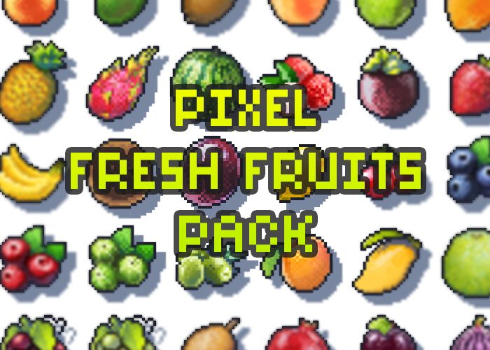 Pixel Fruits Pack