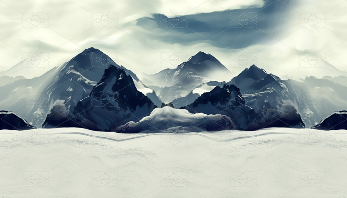 REPEATABLE BACKGROUND FOR SCROLLING – SNOWY MOUNTAIN