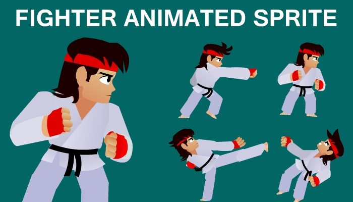 Fighter Animated Sprite for Games