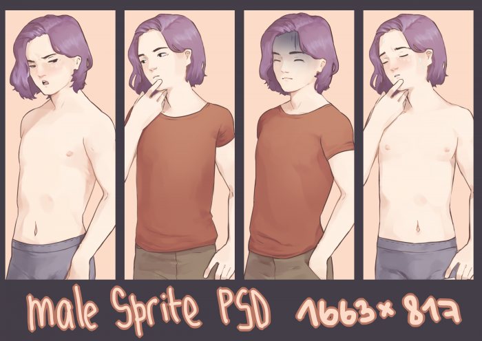 Male sprite for visual novels