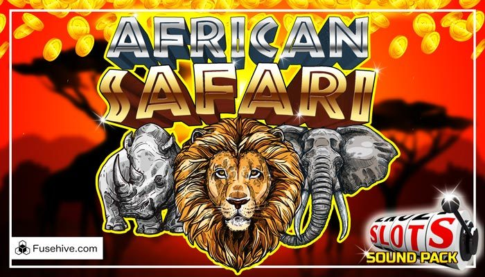 African Safari Casino Slot Game Music & Sound Effects Library – Wild Animals Savanna Slots SFX Pack