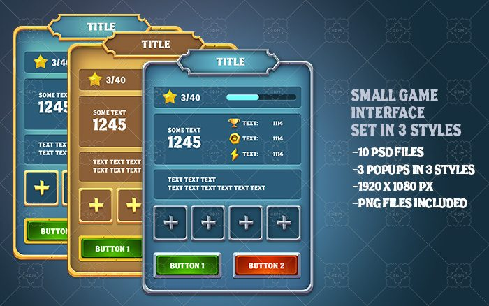 3 styles game UI