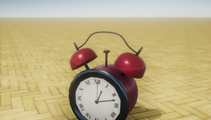 Red Analog Alarm Clock