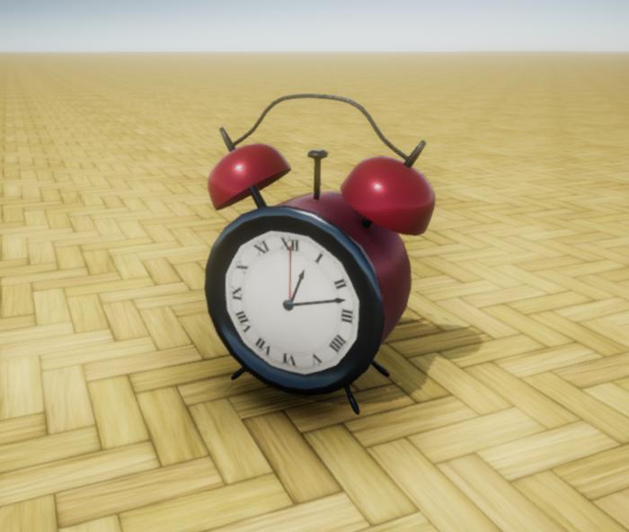 Red Analog Alarm Clock