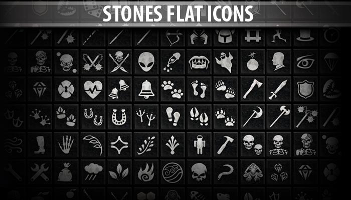 Stones Flat Icons